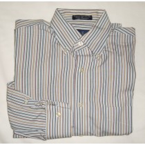 Paul Fredrick Broadcloth Dress Shirt Men's 15.5-32/33