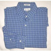 Paul Fredrick Plaid Pinpoint Oxford Dress Shrit Men's 15.5-32