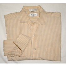 Paul Fredrick Striped Dress Shirt w/French Cuffs Men's 16-34