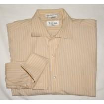 Paul Fredrick Striped Dress Shirt w/French Cuffs Men's 16-34