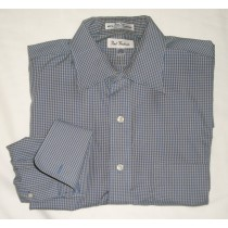 Paul Fredrick Easy Care Broadcloth Dress Shirt w/French Cuffs 16-35