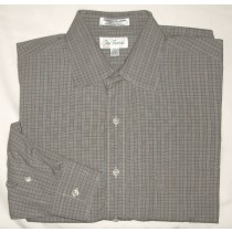 Paul Fredrick Glenplaid Broadcloth Dress Shirt Men's 16-33