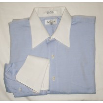Paul Fredrick Pinpoint Oxford Dress Shirt w/French Cuffs Men's 16.5-34