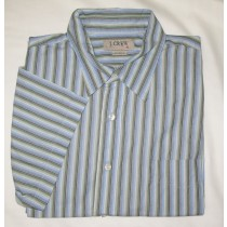 J. Crew Striped Short Sleeve Shirt Men's XL - Extra Large