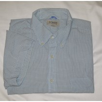 J. Crew Check Short Sleeve Shirt Men's XL - Extra Large