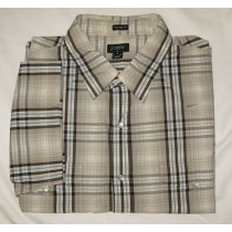J. Crew Plaid S/S Tailored Fit Western Shirt Men's XL - Extra Large