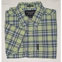Abercrombie & Fitch Fitted Plaid Short Sleeve Shirt Men's S - Small