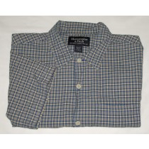 Abercrombie & Fitch Plaid Short Sleeve Shirt Men's L - Large
