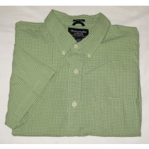 Abercrombie & Fitch Fitted Check Short Sleeve Shirt XL - Extra Large