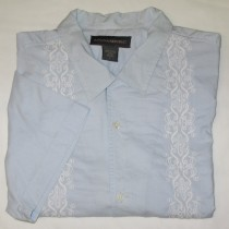 Banana Republic Short Sleeve Embroidered Shirt Men's L - Large