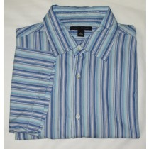 Banana Republic Short Sleeve Striped Shirt Men's XL - Extra Large