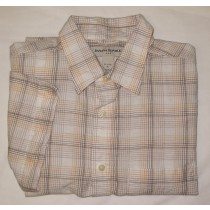 Banana Republic Short Sleeve Tattersall Shirt Men's XL - 17-17.5