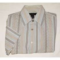 Express Short Sleeve Striped Shirt Men's S - Small