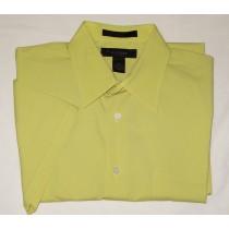 Express Short Sleeve Solid Stretch Shirt Men's M - Medium