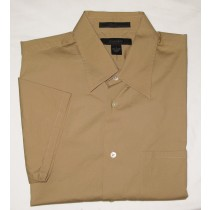 Express Short Sleeve Solid Stretch Shirt Men's L - Large