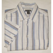 H&M Striped Linen Blend S/S Hift Men's M - Medium