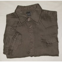 H&M Short Sleeve Linen Western Shirt Men's L - Large - 16.5