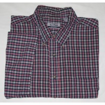 Jos A Bank Sportswear Short Sleeve Plaid Shirt Men's XXL - 2X Large