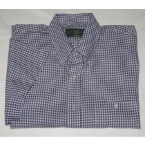 Orvis Gingham Short Sleeve Shirt Men's L - Large