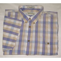 Orvis Check Short Sleeve Shirt Men's XXL - 2XLarge