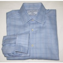 Charles Tyrwhitt Glenplaid Dress Shirt w/French Cuffs Men's 15.5-33
