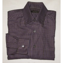 Ermenegildo Zegna Textured Check Shirt Men's Medium - M