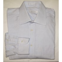 Ermenegildo Zegna Textured Herringbone Dress Shirt Men's 16.5