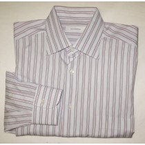Ermenegildo Zegna Striped Dress Shirt Men's 16.5