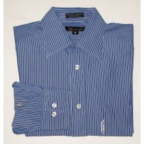Faconnable Striped Dress Shirt Men's 15R