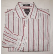Faconnable Striped Dress Shirt Men's 15 (38)