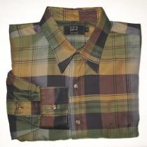 Ike Behar Plaid Shirt Men's Larger - L