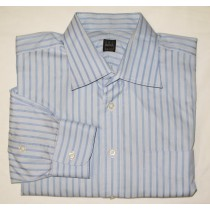 Ike Behar Striped Dress Shirt Men's 17-34