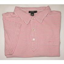J. Crew Striped Polo Shirt Men's L - Large