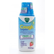 Vicks Children's Cough Congestion Free of: Artificial Dyes & Flavors, High Fructose Corn Syrup & Alcohol 6 fl oz