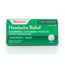Walgreens Headache Relief Extra Strength Pain Reliever 50 Tablets