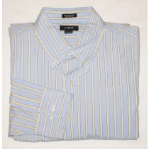 J. Crew 100's 2-Ply Dress Shirt Men's L (16-16.5)
