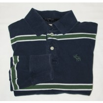 Abercrombie & Fitch L/S Muscle Fit Polo Shirt Men's M - Medium