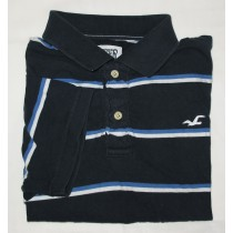 Hollister Striped Polo Shirt Men's XL - Extra Large