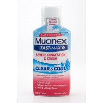 Mucinex Fast-Max Severe Congestion & Cough Clear & Cool 6 fl oz