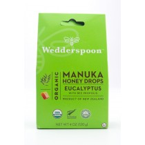 Wedderspoon Organic Manuka Honey Drops Eucalyptus with Bee Propolis net wt 4 oz