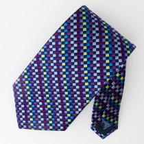 Paul Fredrick Woven Silk Geometric Tie