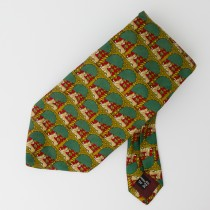 Salvatore Ferragamo Silk Animal Print Tie