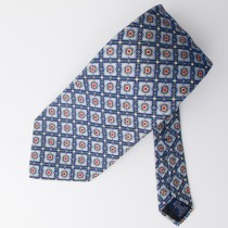 Paul Fredrick Geometric Silk Tie