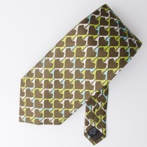 Vera Bradley for Baekgaard Bird Print Silk Tie