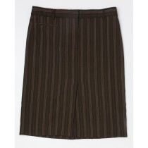 BCBG Max Azria Striped Herringbone Skirt Women's 4