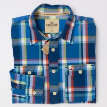 NEW Hollister Men's Plaid Shirt
