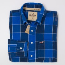 NEW Hollister Men's Check Button-Down Shirt