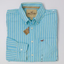 NEW Hollister Men's Striped Button-Down Shirt