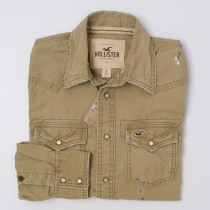 NEW Hollister Men's Heavyweight Western Shirt