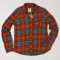 Hollister Plaid Flannel Shirt Women's L - Large